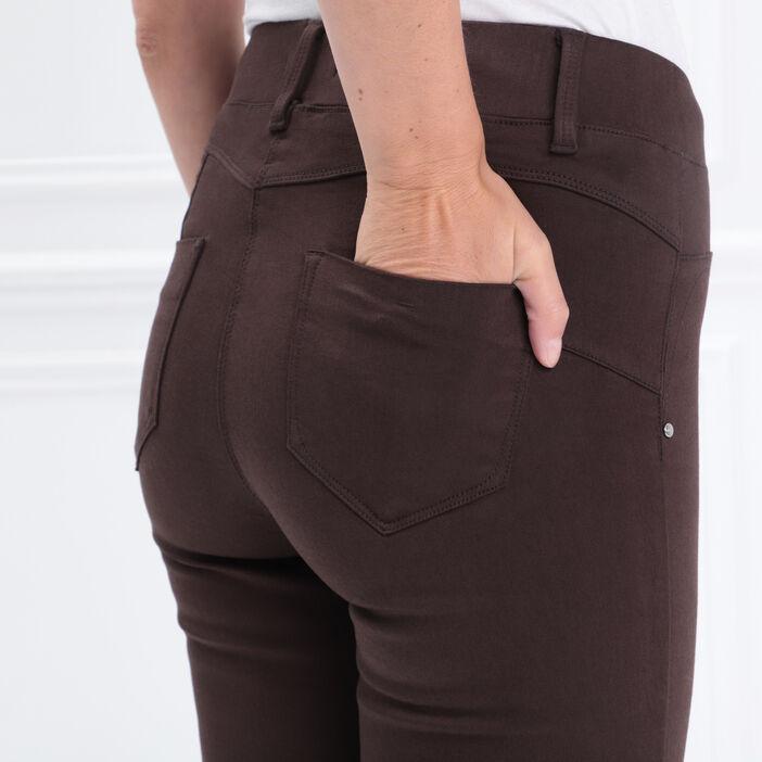 Tregging taille standard marron foncé femme