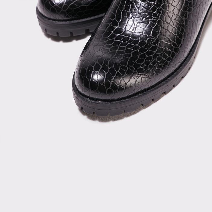 Bottines texturées noir femme