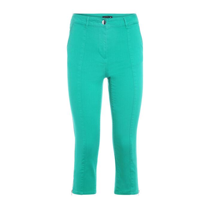 Pantacourt taille standard vert femme