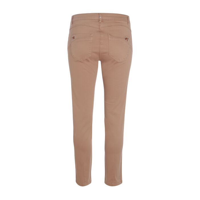 Pantalon peau de peche details couleur cuivre femme