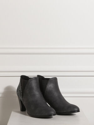 Bottines a talons pointues gris clair femme