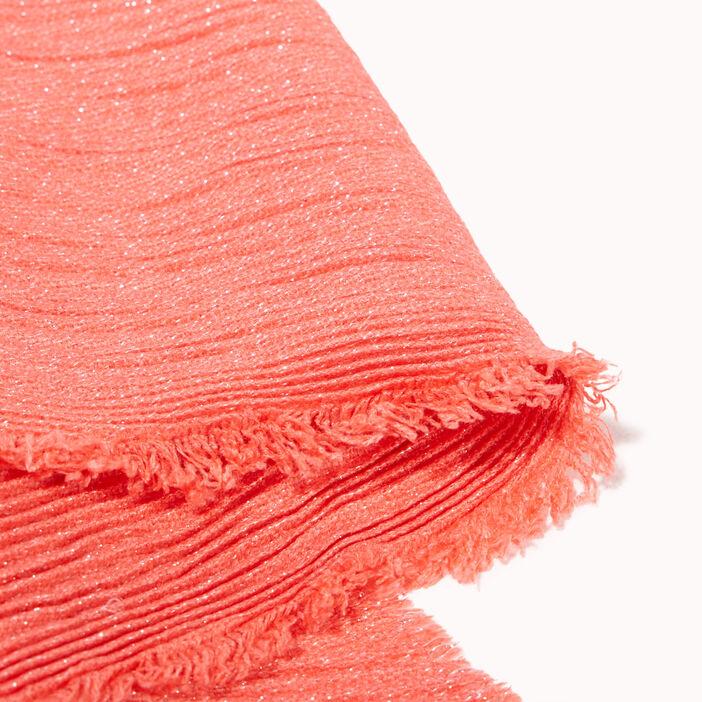 Foulard plissé rose femme