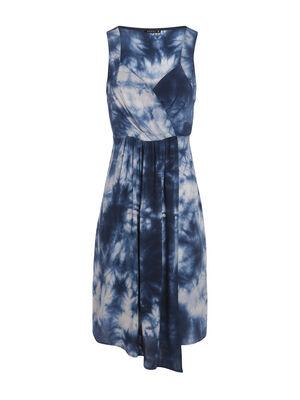Robe imprime bleu femme