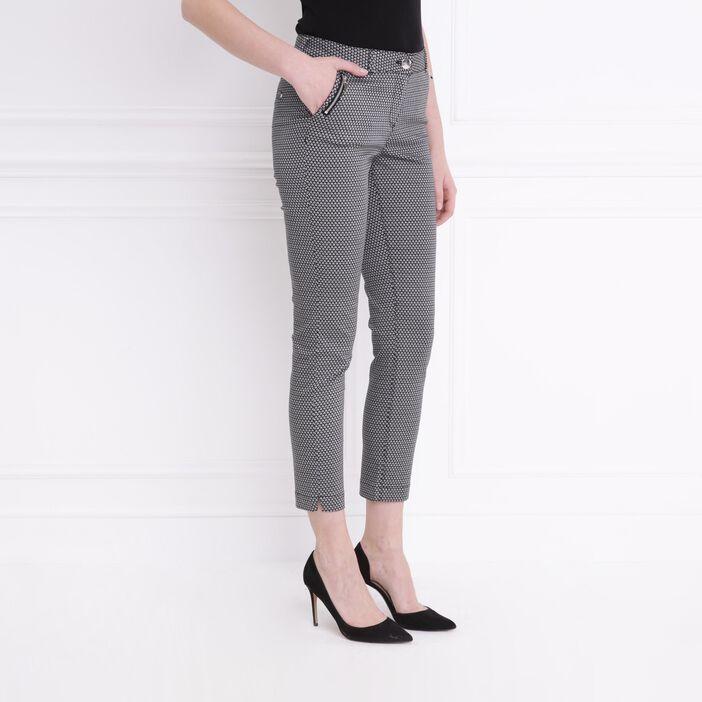 Pantalon imprimé noir femme