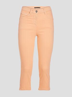 Pantacourt droit taille standard rose clair femme
