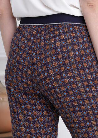 Pantalon78eme taille haute bleu marine femme