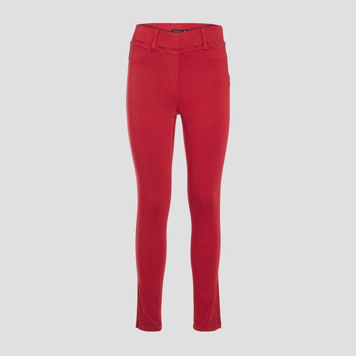 Tregging taille standard rouge foncé femme
