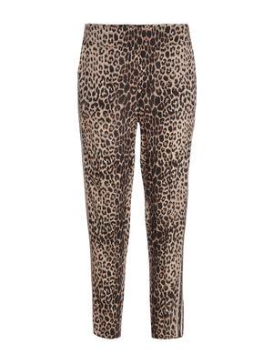 Pantalon leopard camel femme