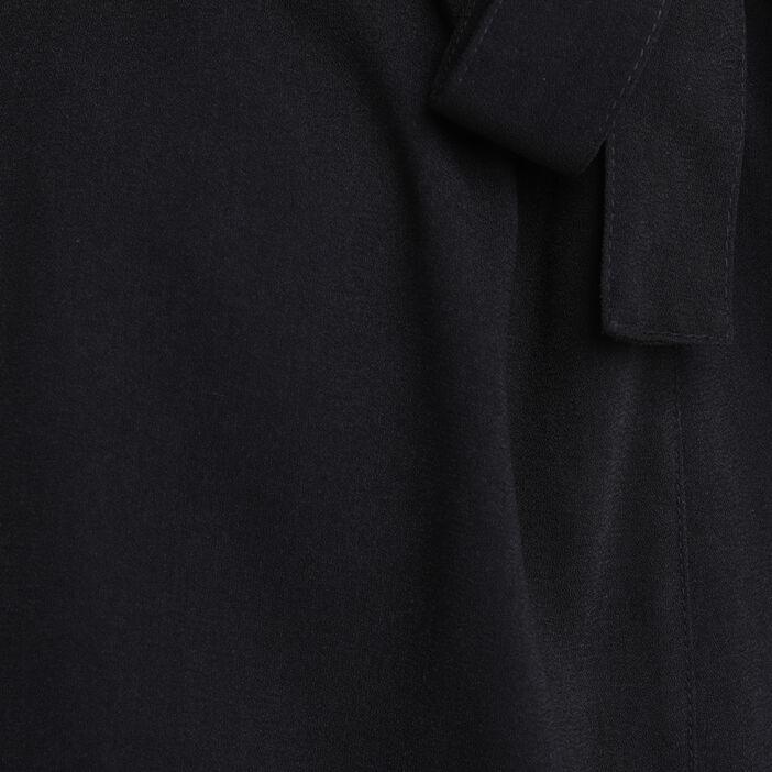 Jupe droite noeud taille noir femme
