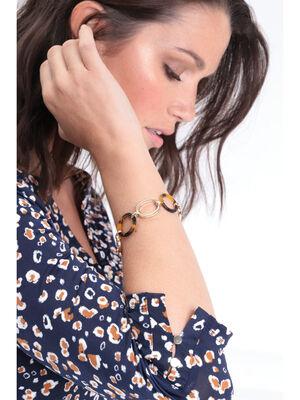 Bracelet a maillons ovales couleur or femme