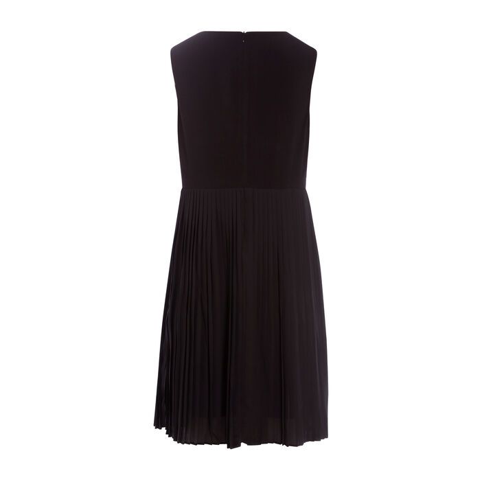 Robe droite taille fantaisie noir femme