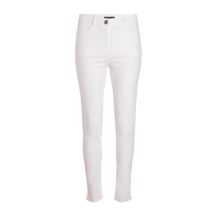 Pantalon léger toucher doux blanc femme
