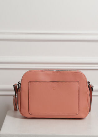 Sac rectangulaire bandouliere rose femme