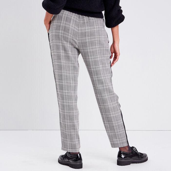 Pantalon flou taille haute gris femme