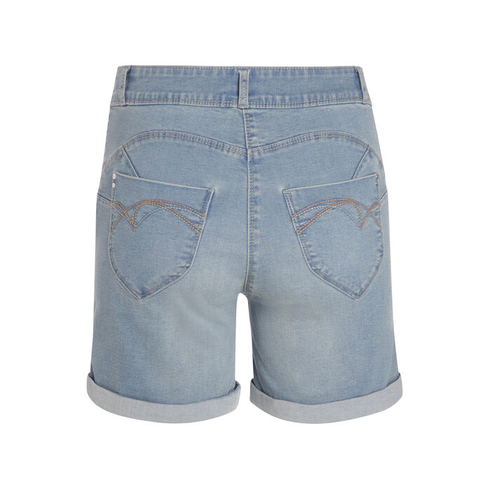 Short en jean uni denim double stone femme