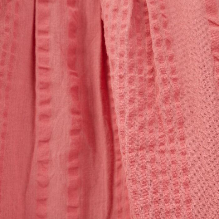 Blouse manches 3/4 bouffantes vieux rose femme