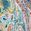 Robe longue evasee multicolore femme