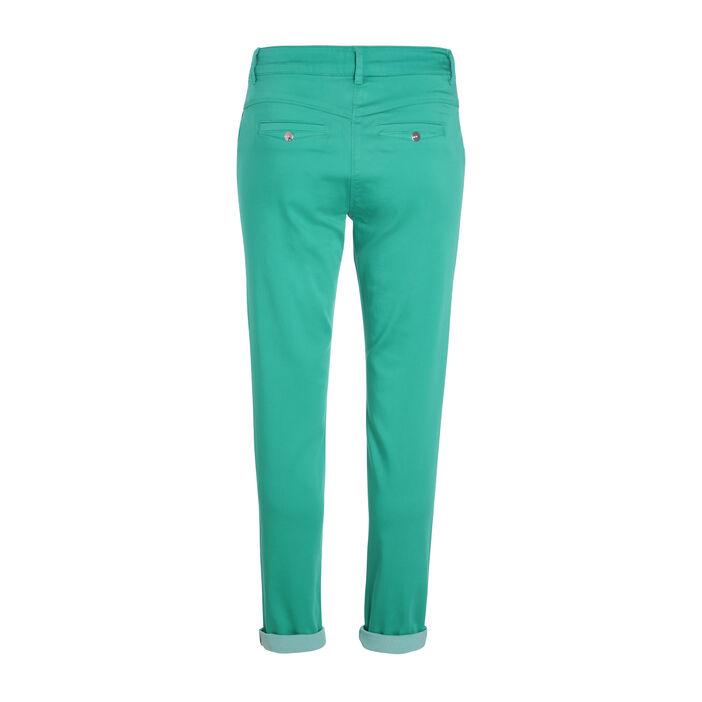 Pantalon ajusté urbain vert femme