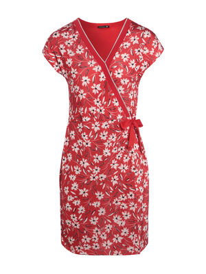 Robe portefeuille courte rouge femme
