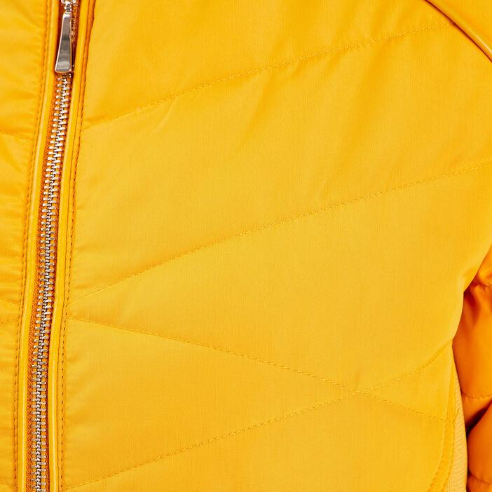 Doudoune droite jaune or femme