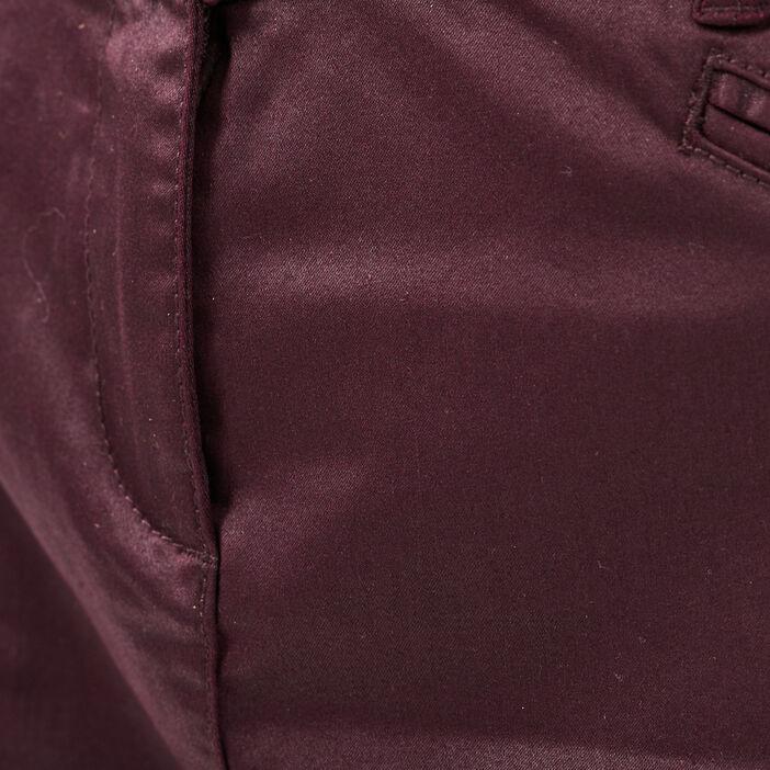 Jupe droite violet foncé femme