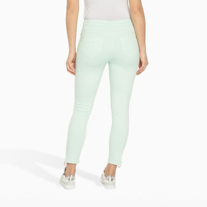 Pantalon 7/8ème avec zips vert clair femme