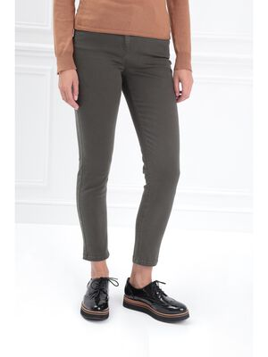 Pantalon 78 taille standard vert kaki femme