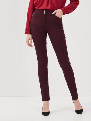 Pantalon ajuste violet fonce femme