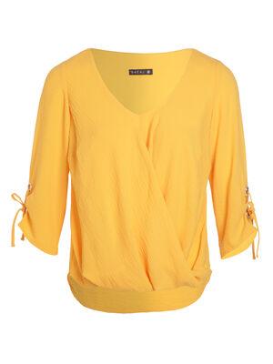 Blouse manches 34 drape orange clair femme