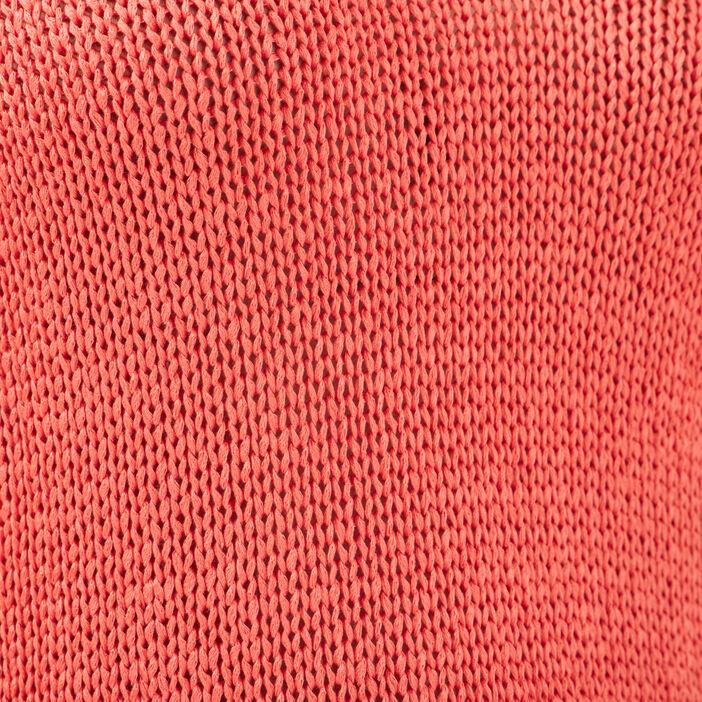 Pull manches courtes orange corail femme