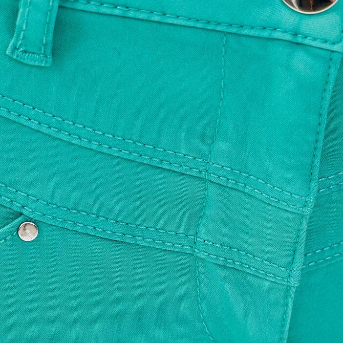 Pantalon ajusté taille standard vert menthe femme