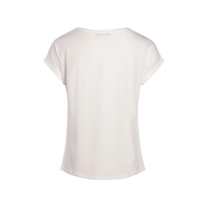 T-shirt imprimé éléphant ecru femme