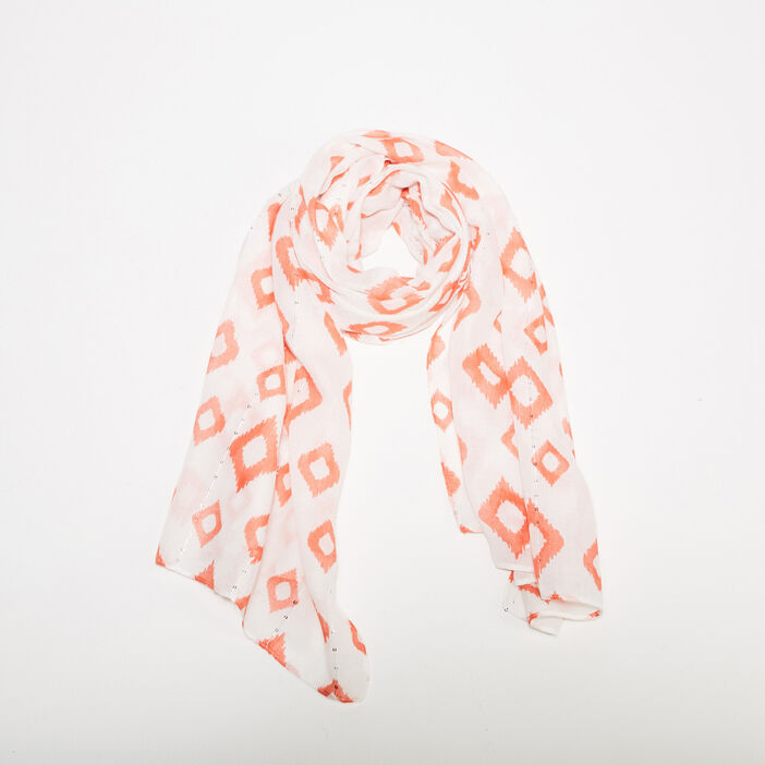 Foulard orange corail femme