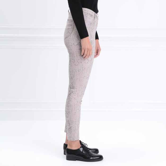 Pantalon 7/8 taille standard gris clair femme