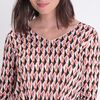 T shirt manches 34 croise multicolore femme