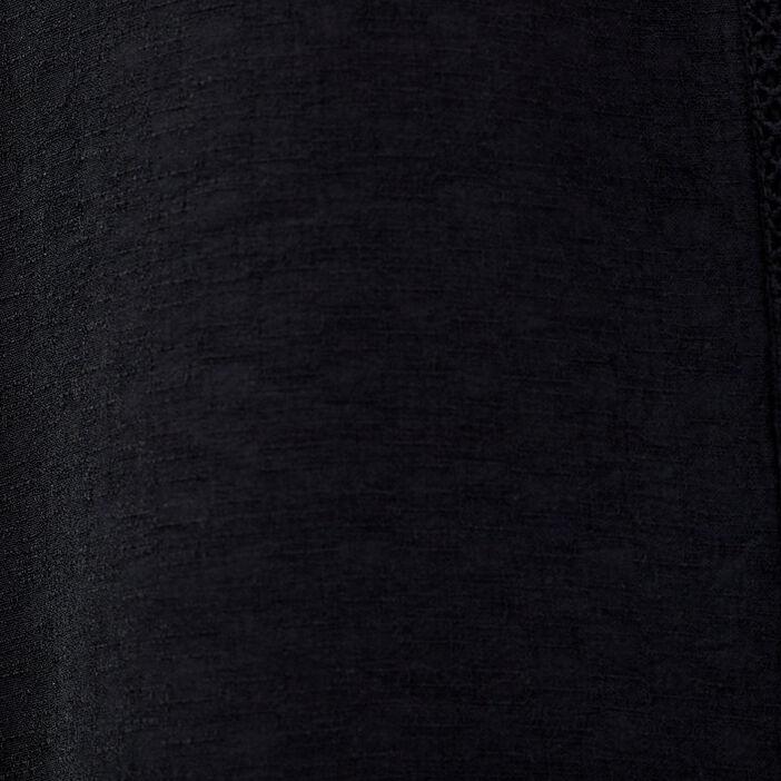 Chemise manches 3/4 noir femme