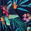 Combinaison pantalon ceinturee bleu marine femme