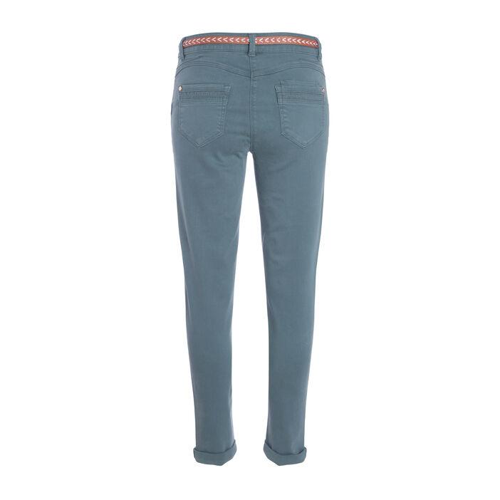 Pantalon 7/8ème fantaisie vert foncé femme