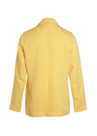 Veste droite a boutons jaune femme