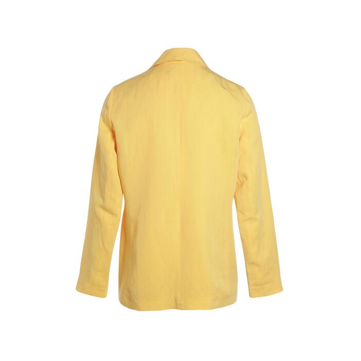 Veste droite à boutons jaune femme