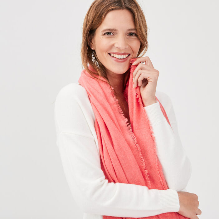 Écharpe rose femme