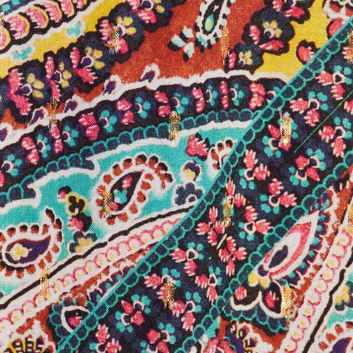 Blouse manches longues multicolore femme