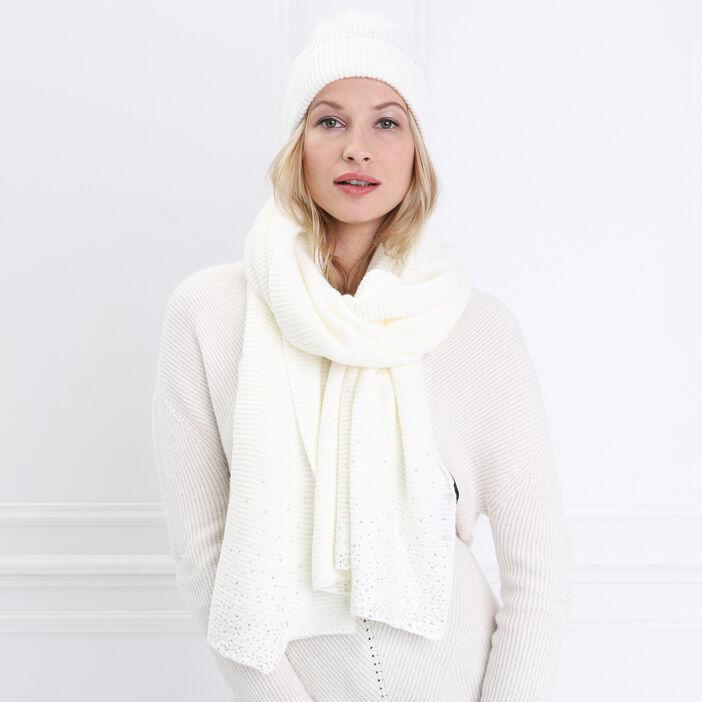 Lot Bonnet Et écharpe Strass Creme Femme Bréal