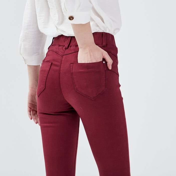 Tregging taille standard bordeaux femme