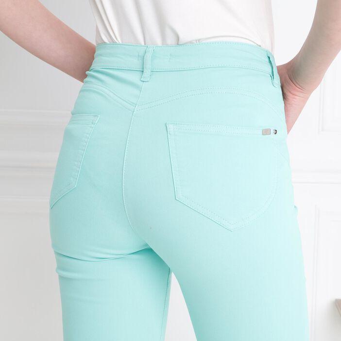 Pantalon léger toucher doux vert menthe femme