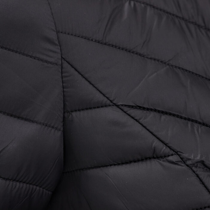 Doudoune droite zippée noir femme