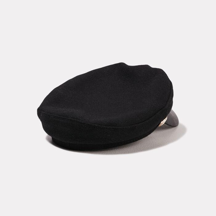 Casquette officier noir femme