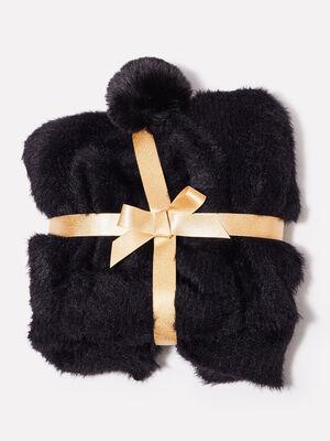 Lot bonnet et echarpe noir femme