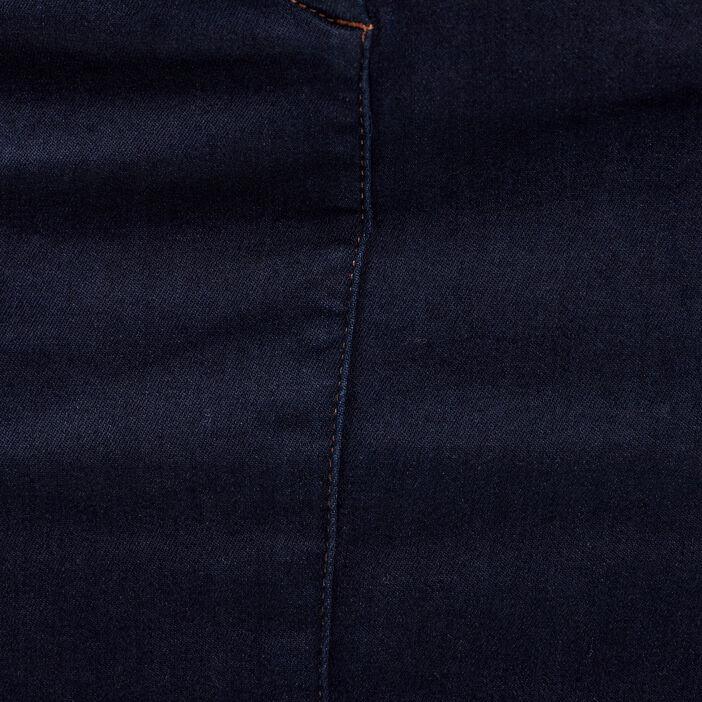 Jupe magique ajustée taille haute denim brut femme