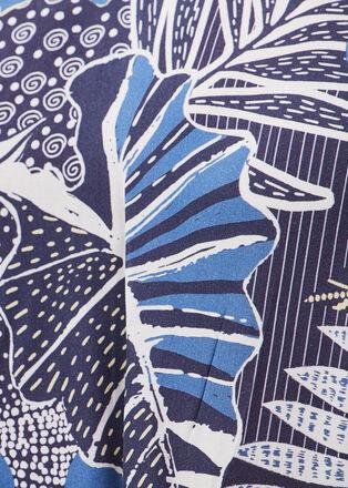 Blouse manches 34 bleu marine femme